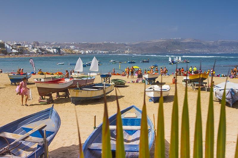 Las Canteras beach on a sunny day