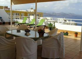 Stunning view from this La Isleta penthouse apartment right by the sea in Las Palmas de Gran Canaria