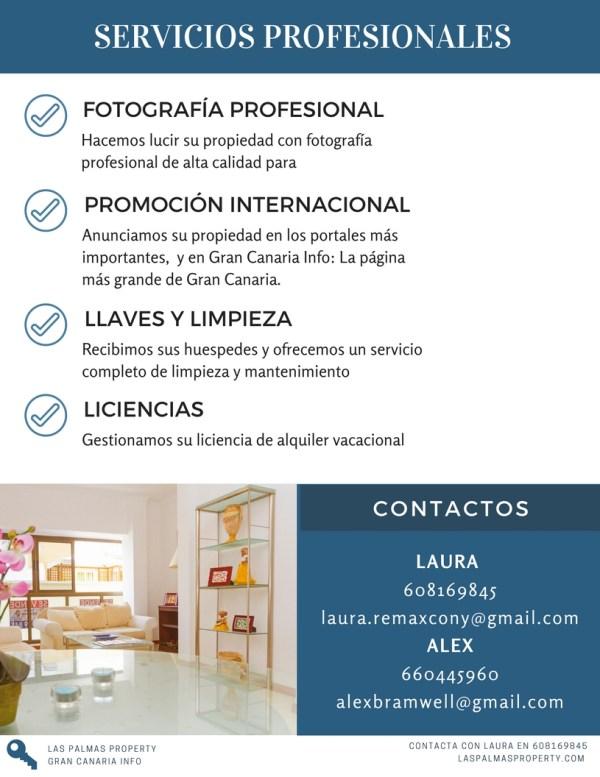 Servicio completo de gestion de alquileres vacacionales en Las Palmas de Gran Canaria