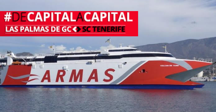 The new Armas ferry connects Las Palmas direct with Santa Cruz