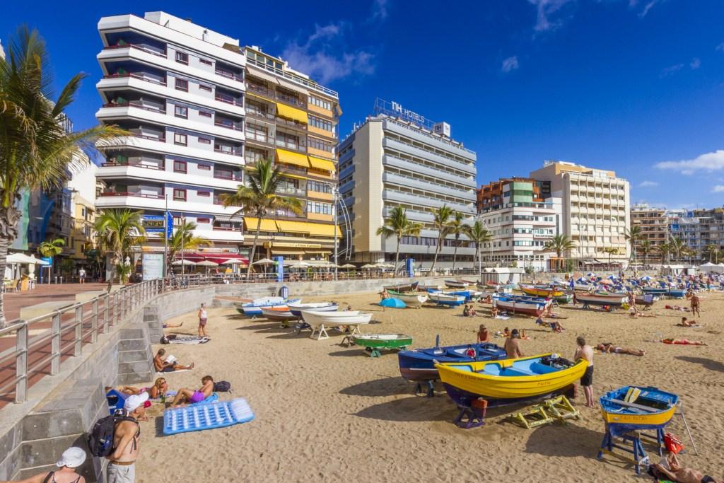 Las Canteras beach in Las Palmas de Gran Canaria