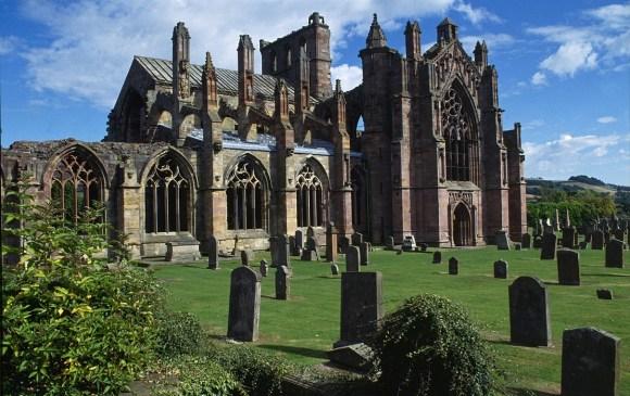 Melrose Abbey, arquitectura gótica en Escocia