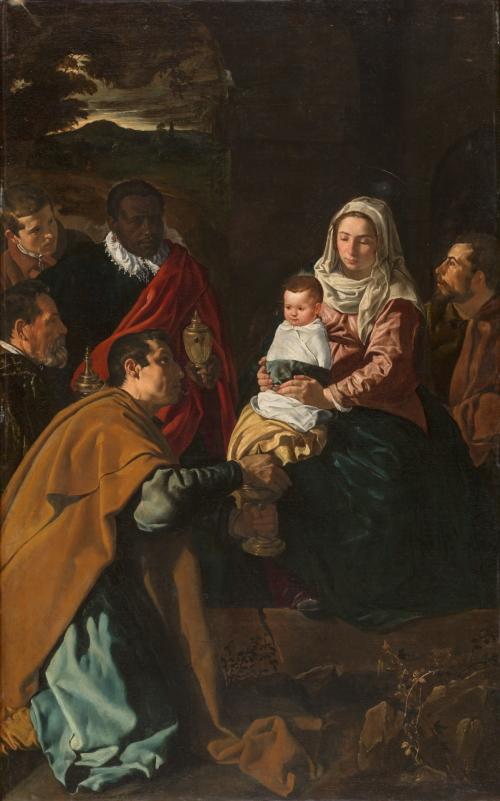 Adoración de los Reyes Magos (1619), de Diego Velázquez.