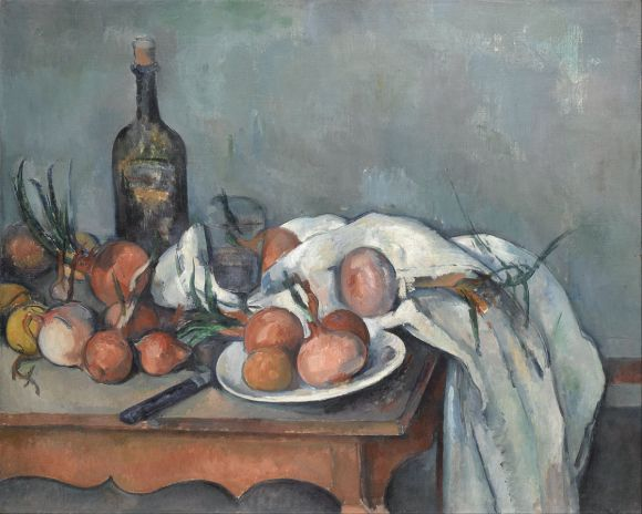 Bodegón con cebollas (1895-1900), de Paul Cézanne.