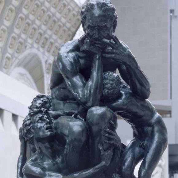 Escultura El Pensador de Rodin inspiración