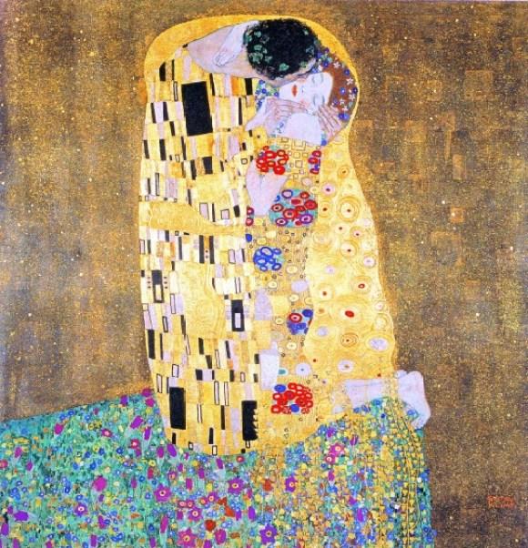 Formas figurativas. El beso, 1907–1908, Gustav Klimt.