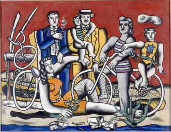 Les loisirs sur fond rouge, 1949, Ferdinand Léger. Musée National Fernand Léger.