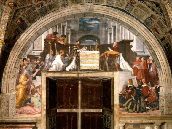 La misa de Bolsena, de Rafael