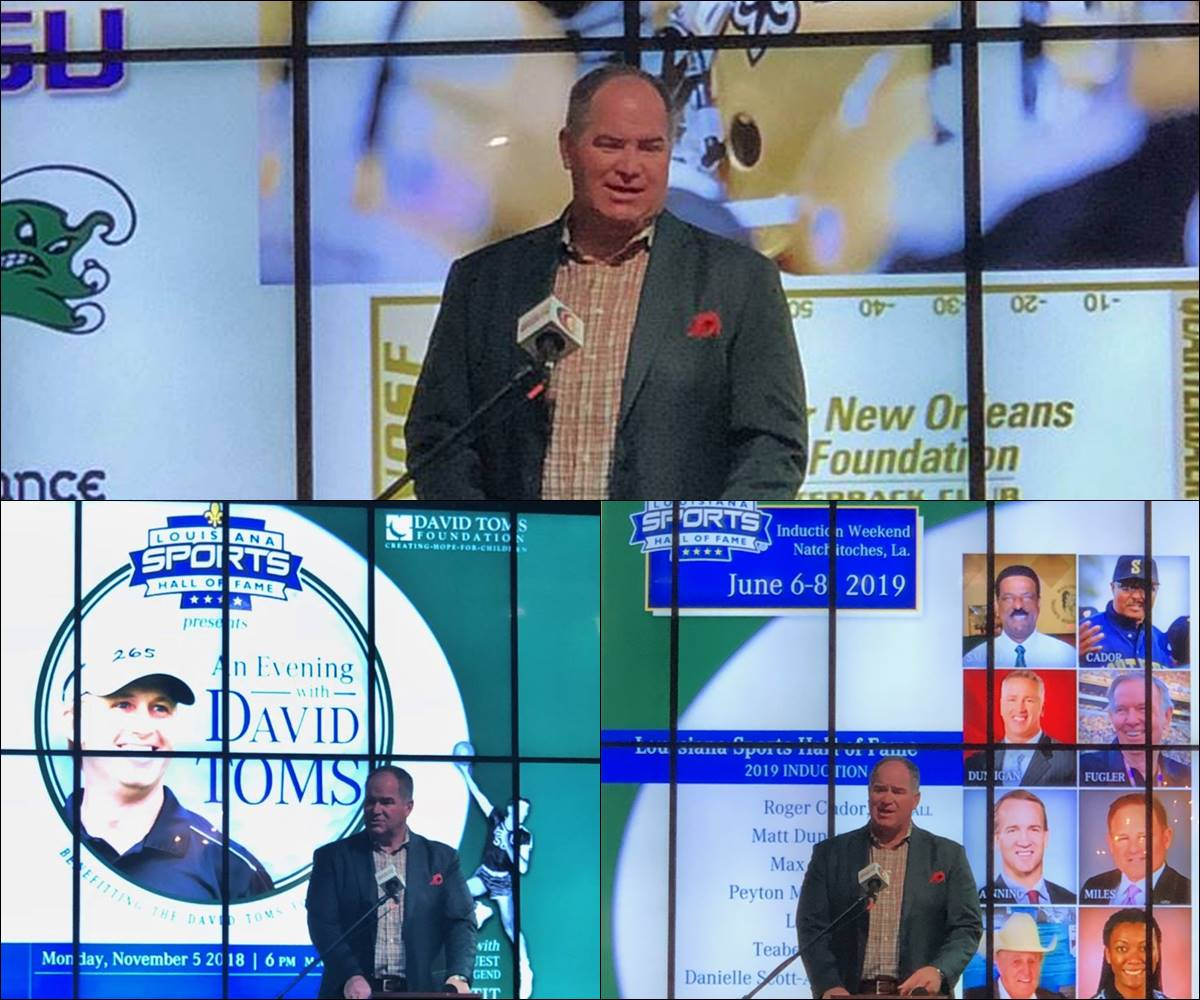 Video: LSHOF CEO Ronnie Rantz at Greater New Orleans Quarterback Club
