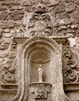 Hornacina central de la portada de la iglesia