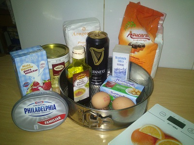 Tarta guinness ingredientes