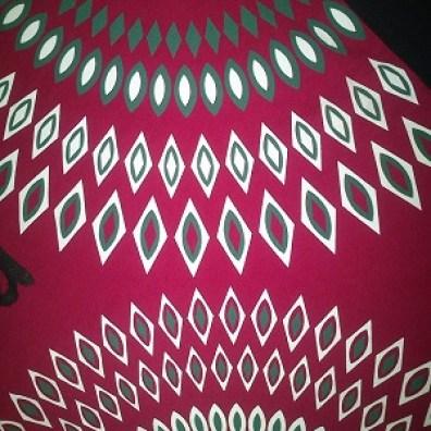 Detalle del dibujo falda