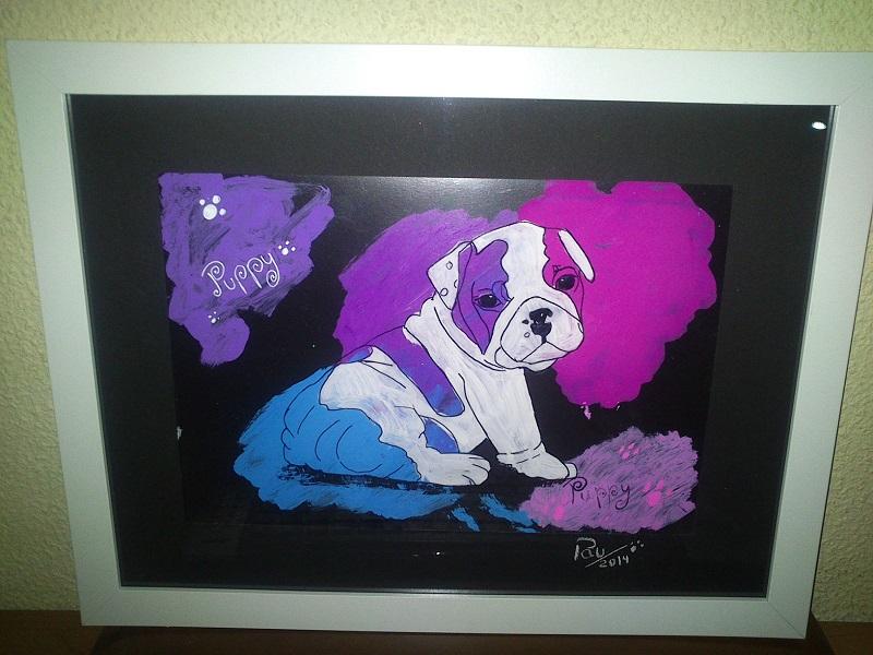 Pintura de Bulldog