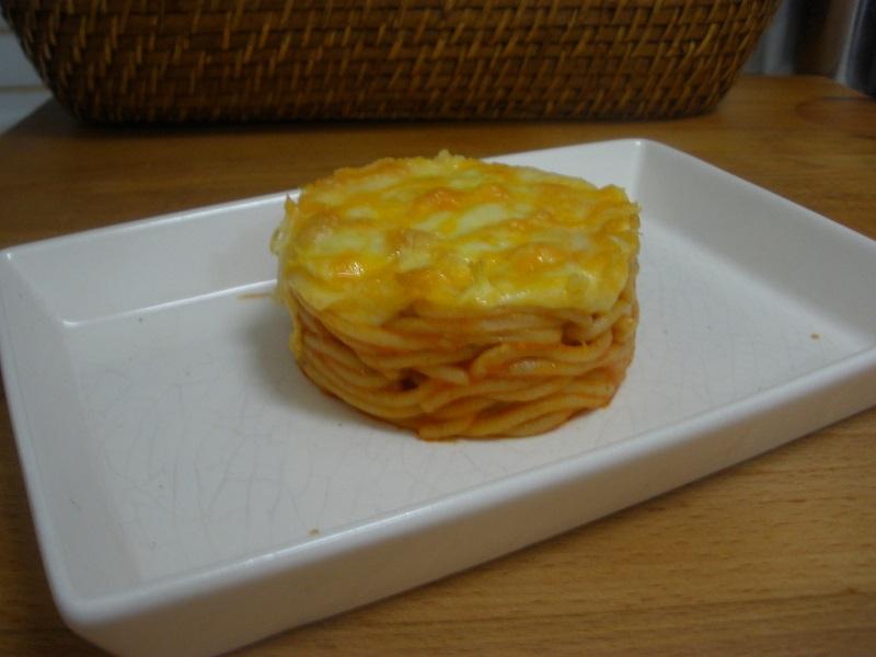 Espaguetis gratinados