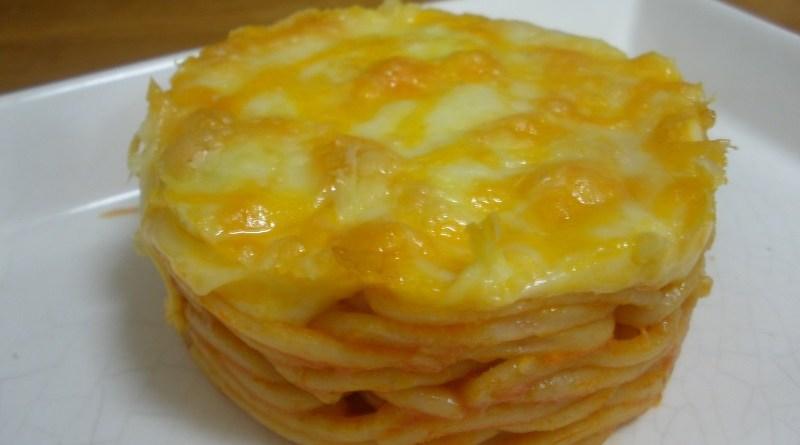 Espaguetis integrales gratinados
