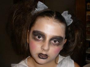 Maquillaje niña cadaver