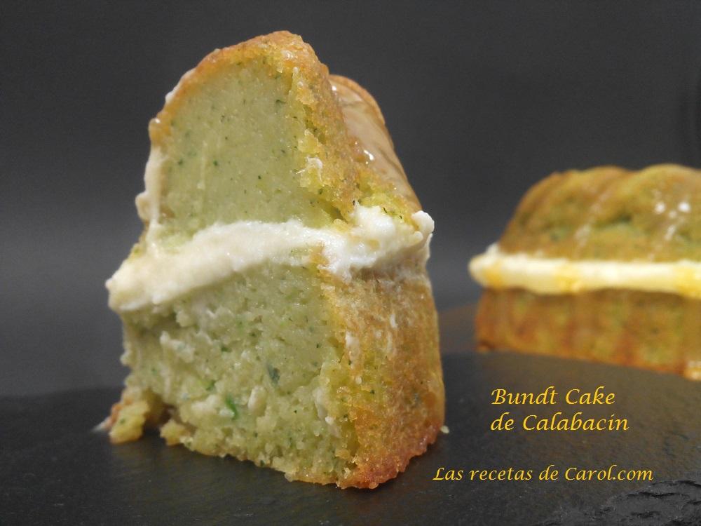 Bundt cake de calabacín