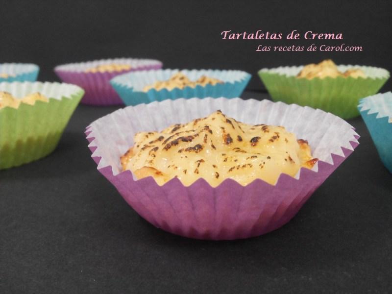 Tartaletas de crema
