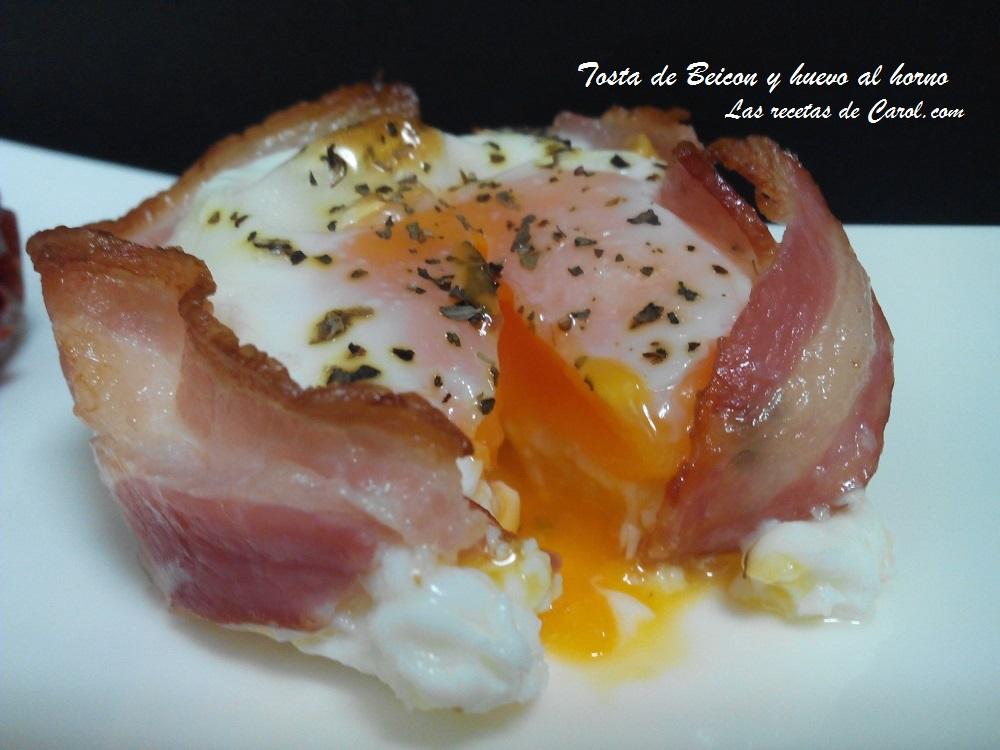Tosta de Beicon y Huevo al Horno (3)