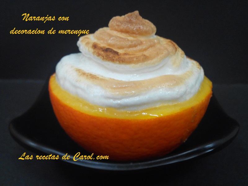 Naranjas con decoracion de Merengue