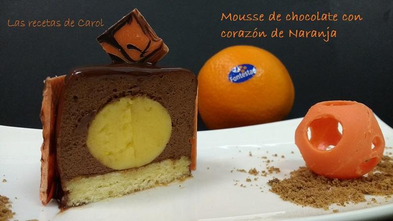 Mousse de chocolate, crema de naranja y glaseado (4)