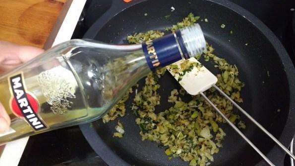 Merluza en salsa con Martini