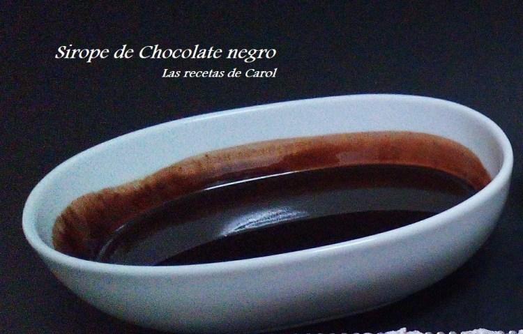sirope de chocolate