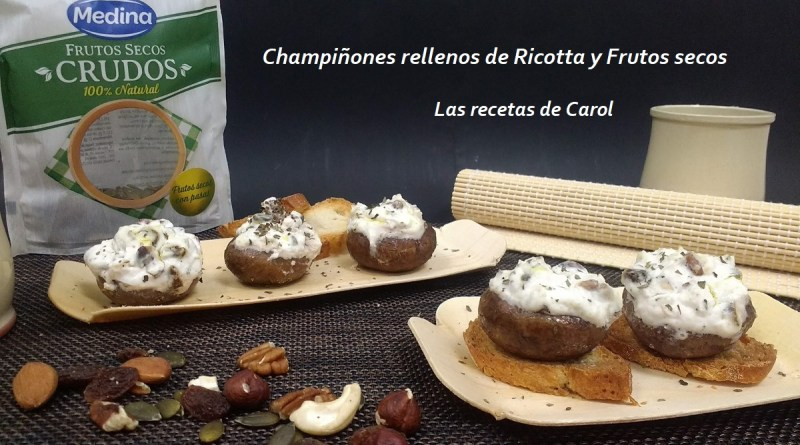 Champiñones rellenos de Ricotta