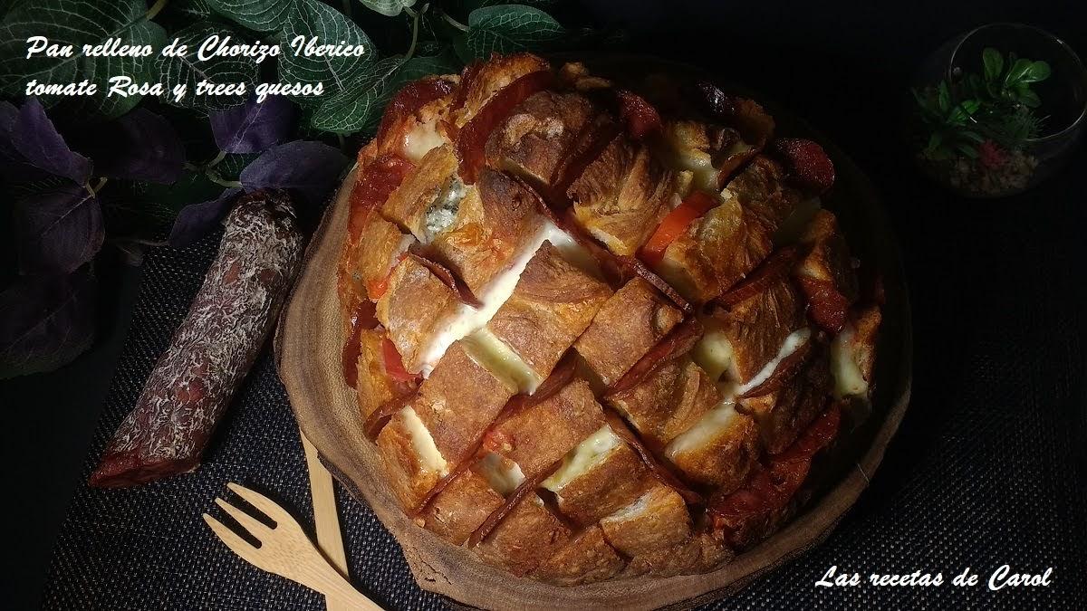 Pan relleno de chorizo ibérico