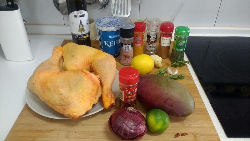Pollo Tandori con salsa de Mango