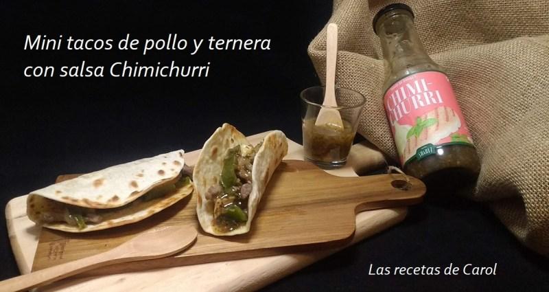 Mini tacos con chimichurri