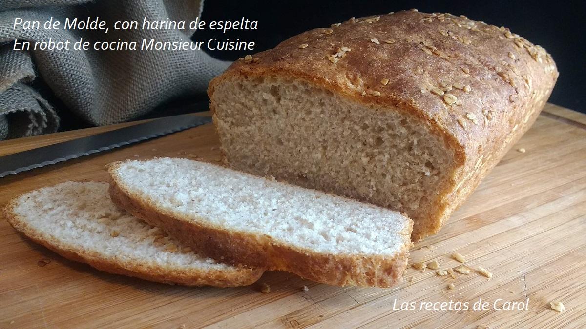 Pan de molde en Robot de cocina