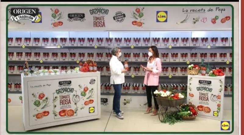 Gazpacho de tomate rosa