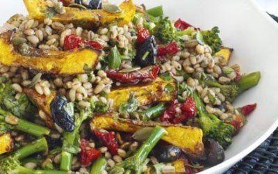 Recetas – Ensalada de cebada, Squash y vinagreta de balsámico