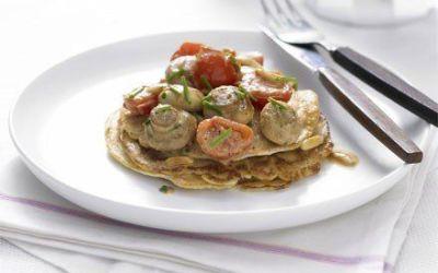 Recetas – Tortita de tomate y setas