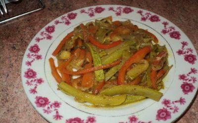 Recetas – Verduras salteadas al curry
