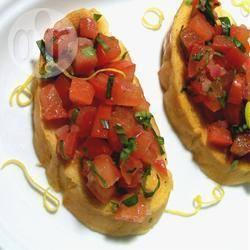 Recetas – Bruschetta de Tomate