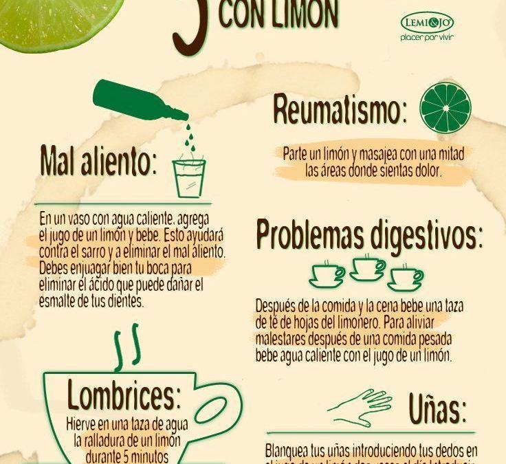 Infografía – 5 remedios caseros con limón