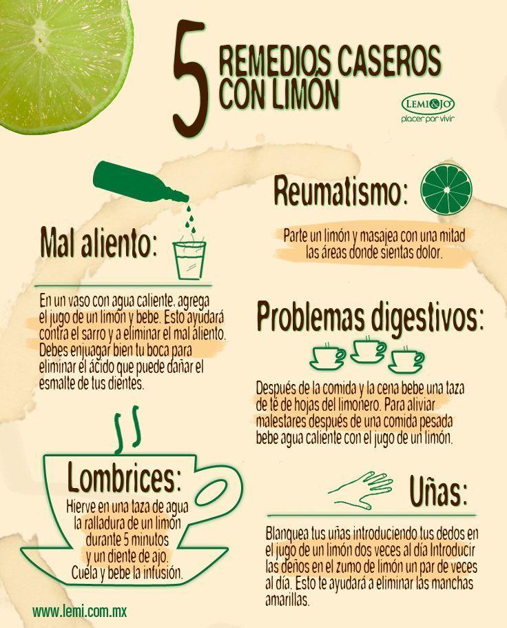 5 remedios casero con limon