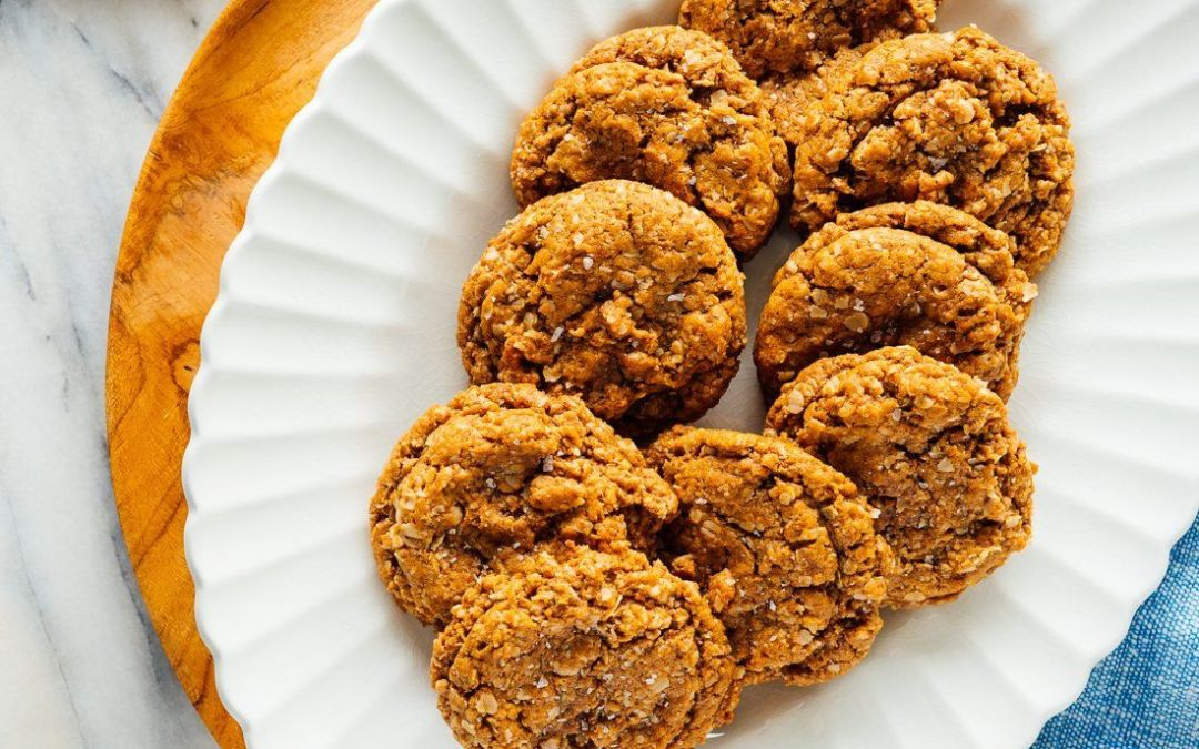 Receta de galletas de avena y mantequilla de maní