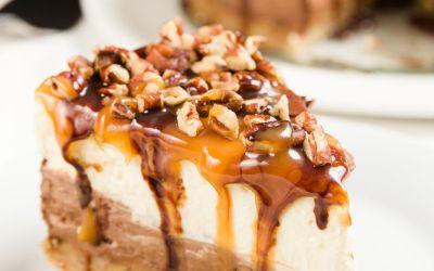 Pastel de queso de tortuga con costra de nuez de azúcar morena