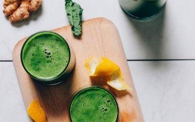 Receta fácil de jugo verde + consejos de jugo