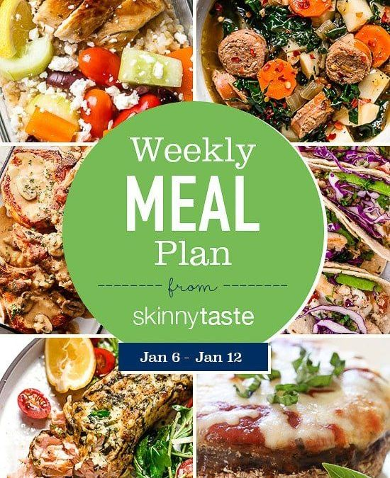 Plan de comidas Skinnytaste (del 6 de enero al 12 de enero)