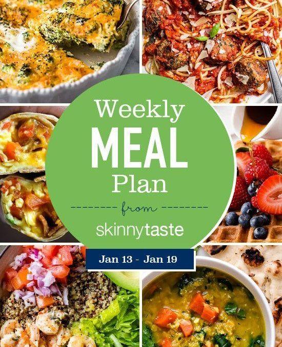 Plan de comidas Skinnytaste (del 13 de enero al 19 de enero)