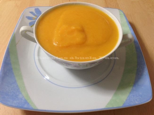 Crema de zanahorias con gambas0 (0)