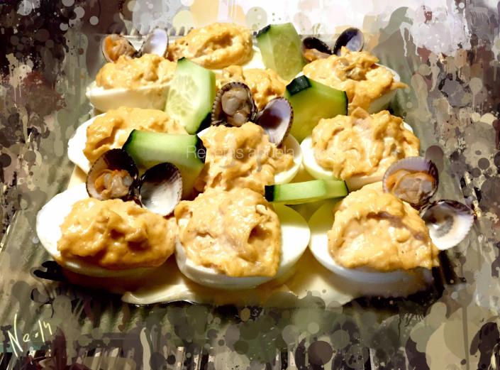 Huevos rellenos de berberechos0 (0)