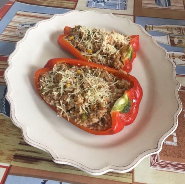 pimientos rellenos de arroz de pablo andrade blog