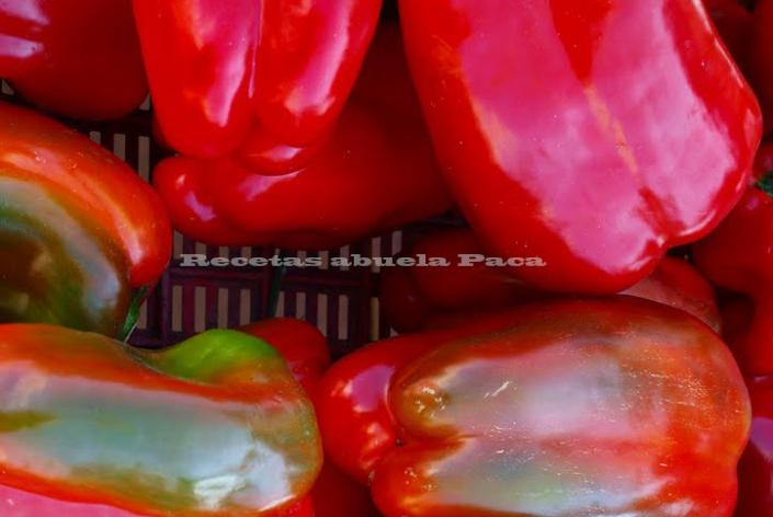 Asar pimientos rojos o verdes