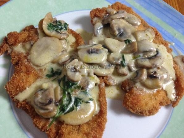 pechuga de pollo empanada con setas blog