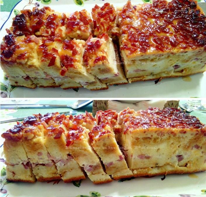 Pudin de jamón york y quesitos ofrecido por Puri Toro Perea